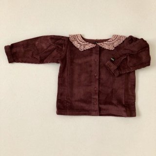 <img class='new_mark_img1' src='//img.shop-pro.jp/img/new/icons14.gif' style='border:none;display:inline;margin:0px;padding:0px;width:auto;' />BONJOUR DIARY 「Plain blouse with Embroidery (brown) 2y 4y 6y」2018-AW