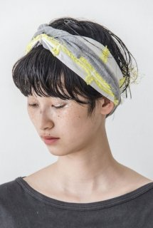 POTTENBURN TOHKII「MESH HAIR BAND (GRAY / YELLOW)」