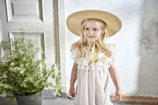 <img class='new_mark_img1' src='//img.shop-pro.jp/img/new/icons14.gif' style='border:none;display:inline;margin:0px;padding:0px;width:auto;' />bebe organic「Elisa Straw Hat」2019-SS