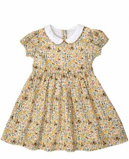 <img class='new_mark_img1' src='//img.shop-pro.jp/img/new/icons14.gif' style='border:none;display:inline;margin:0px;padding:0px;width:auto;' />Little Cotton Clothes「Martha Dress (Yellow) 18m-2y-3y-4y」2019-SS