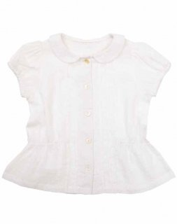 <img class='new_mark_img1' src='//img.shop-pro.jp/img/new/icons14.gif' style='border:none;display:inline;margin:0px;padding:0px;width:auto;' />Little Cotton Clothes「Dolly Blouse (White Swiss Dot) 12m-18m-2y-3y-4y」2019-SS