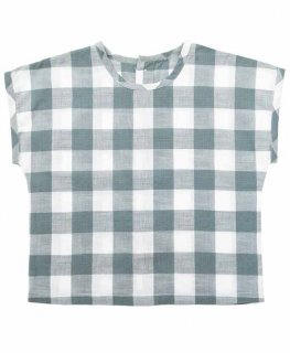 <img class='new_mark_img1' src='//img.shop-pro.jp/img/new/icons14.gif' style='border:none;display:inline;margin:0px;padding:0px;width:auto;' />Little Cotton Clothes「Margate Tee (Blue Textured Gingham) 12m-18m-24m 2y-3y-4y」2019-SS