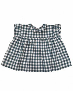<img class='new_mark_img1' src='//img.shop-pro.jp/img/new/icons14.gif' style='border:none;display:inline;margin:0px;padding:0px;width:auto;' />Little Cotton Clothes「Juno Top (Blue Gingham) 12m-18m-2y-3y-4y」2019-SS