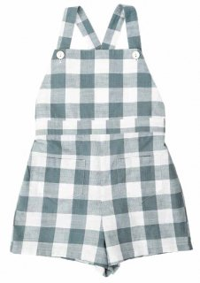 <img class='new_mark_img1' src='//img.shop-pro.jp/img/new/icons14.gif' style='border:none;display:inline;margin:0px;padding:0px;width:auto;' />Little Cotton Clothes「Appledore Romper (Blue Textured Gingham) 12m-18m-2y」2019-SS