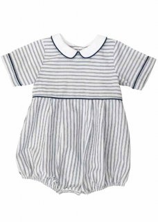 <img class='new_mark_img1' src='//img.shop-pro.jp/img/new/icons14.gif' style='border:none;display:inline;margin:0px;padding:0px;width:auto;' />Little Cotton Clothes「Romi Romper (Blue Stripe) 6m-12m-18m」2019-SS