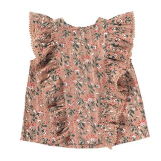 <img class='new_mark_img1' src='//img.shop-pro.jp/img/new/icons14.gif' style='border:none;display:inline;margin:0px;padding:0px;width:auto;' />BONHEUR DU JOUR「Tess Blouse (pink coral) 2y 4y」2019-SS