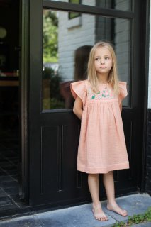 <img class='new_mark_img1' src='//img.shop-pro.jp/img/new/icons14.gif' style='border:none;display:inline;margin:0px;padding:0px;width:auto;' />BONHEUR DU JOUR「Cutie Dress (terracotta) 2y 4y」2019-SS
