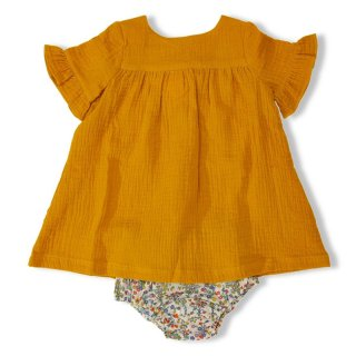 <img class='new_mark_img1' src='//img.shop-pro.jp/img/new/icons23.gif' style='border:none;display:inline;margin:0px;padding:0px;width:auto;' />【40%OFF】Olivier「Tilly Baby Dress (Mustard Muslin/Devon Dance) 1y-2y-3y」2019-SS