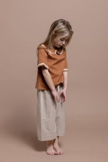 <img class='new_mark_img1' src='//img.shop-pro.jp/img/new/icons14.gif' style='border:none;display:inline;margin:0px;padding:0px;width:auto;' />【30%OFF】minimom「Hana Blouse (Cinnamon) 1y-2y-3y-4y-5y」2019-SS