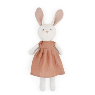 HAZEL VILLAGE「Emma Rabbit in clay linen dress」