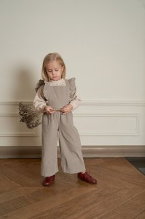 <img class='new_mark_img1' src='//img.shop-pro.jp/img/new/icons23.gif' style='border:none;display:inline;margin:0px;padding:0px;width:auto;' />【30%OFF】bebe organic「Harper romper pants (Simple taupe)」2019-AW