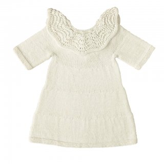 <img class='new_mark_img1' src='//img.shop-pro.jp/img/new/icons14.gif' style='border:none;display:inline;margin:0px;padding:0px;width:auto;' />MIOU KIDS「Alpaca Blossom Dress (Cream)」2019-AW