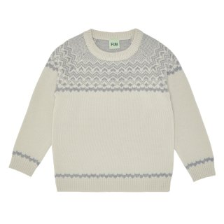 <img class='new_mark_img1' src='//img.shop-pro.jp/img/new/icons23.gif' style='border:none;display:inline;margin:0px;padding:0px;width:auto;' />【30%OFF】FUB「Nordic Sweater (Ecru/Lightgrey)」2019-AW