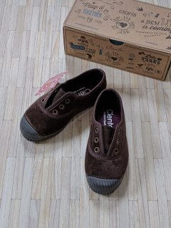 Cienta「Deck Shoes (Brown/Velour)」