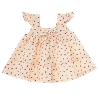 <img class='new_mark_img1' src='//img.shop-pro.jp/img/new/icons14.gif' style='border:none;display:inline;margin:0px;padding:0px;width:auto;' />tocoto vintage「Strawberry print dress with back down buttons (Salmon)」2020-SS