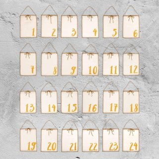 <img class='new_mark_img1' src='//img.shop-pro.jp/img/new/icons14.gif' style='border:none;display:inline;margin:0px;padding:0px;width:auto;' />Numero74「Advent Calendar Gift Bags (Natural)」
