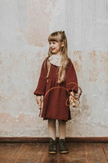 <img class='new_mark_img1' src='//img.shop-pro.jp/img/new/icons14.gif' style='border:none;display:inline;margin:0px;padding:0px;width:auto;' />bebe organic「Olivia Dress (Burgundy)」2020-AW