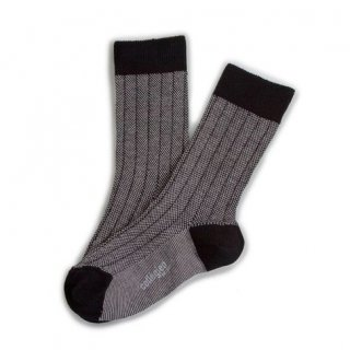 <img class='new_mark_img1' src='//img.shop-pro.jp/img/new/icons14.gif' style='border:none;display:inline;margin:0px;padding:0px;width:auto;' />Collegien「Grain de Caviar Socks - Noir/Blanc」