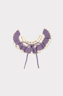 <img class='new_mark_img1' src='//img.shop-pro.jp/img/new/icons14.gif' style='border:none;display:inline;margin:0px;padding:0px;width:auto;' />HAPPYOLOGY「Riverdale Hand Crochet Collar (Purple Twilight)」2020-AW