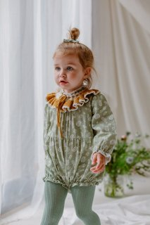 <img class='new_mark_img1' src='//img.shop-pro.jp/img/new/icons14.gif' style='border:none;display:inline;margin:0px;padding:0px;width:auto;' />HAPPYOLOGY「Wilbury Baby Romper (Antique Green Floral)」2020-AW