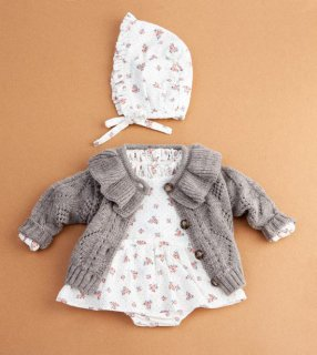 <img class='new_mark_img1' src='//img.shop-pro.jp/img/new/icons14.gif' style='border:none;display:inline;margin:0px;padding:0px;width:auto;' />tocoto vintage「Flower print baby dress with ruffled neck and inner body」2020-AW