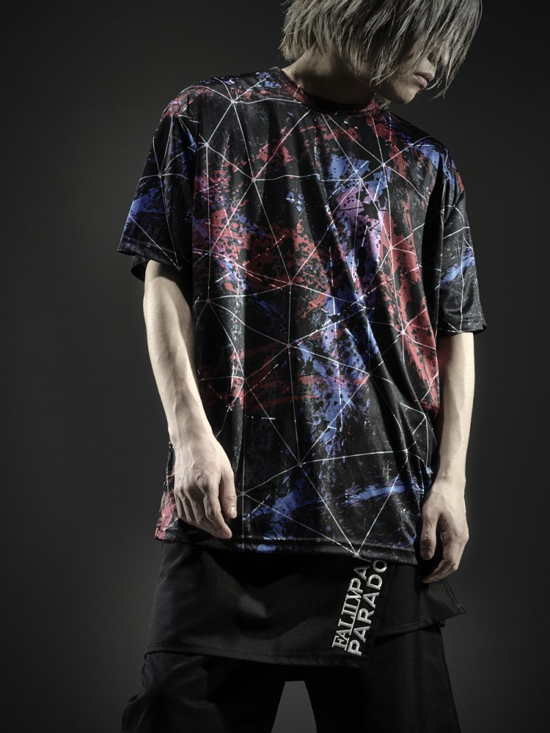 2018SPRING ×PARADOX GRAPHIC BIG TEE【BRUSH】