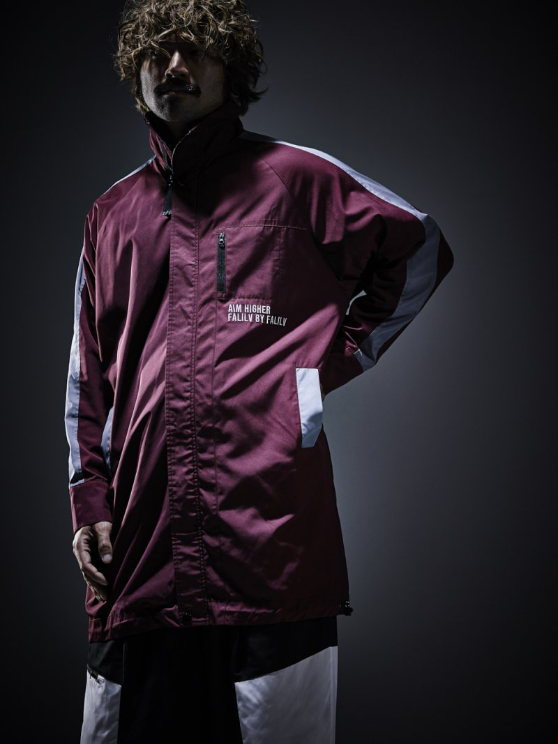 2018 AUTUMN HIGHNECK LONG NYLON BLOUSON (WINE)