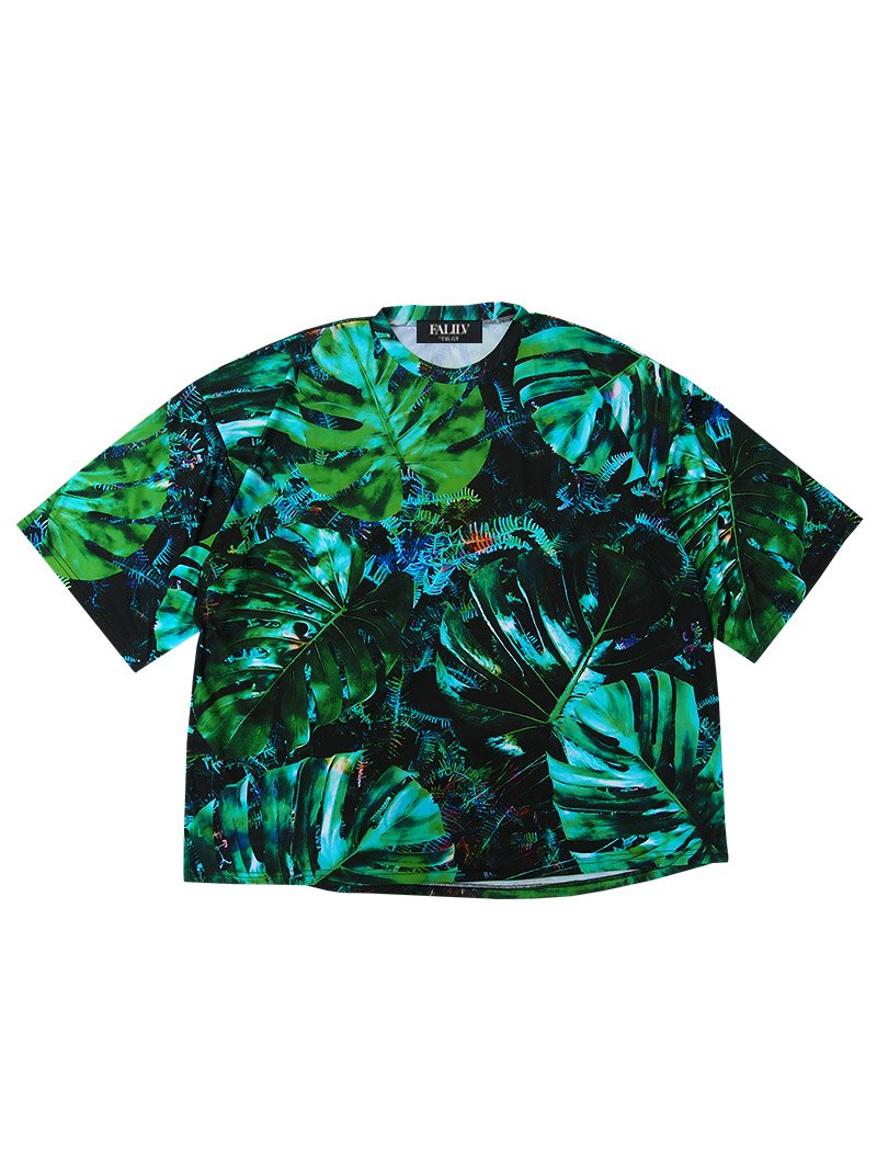 2020 SPRING GRAPHIC LOGO OVERSIZED TEE (LEAF)
