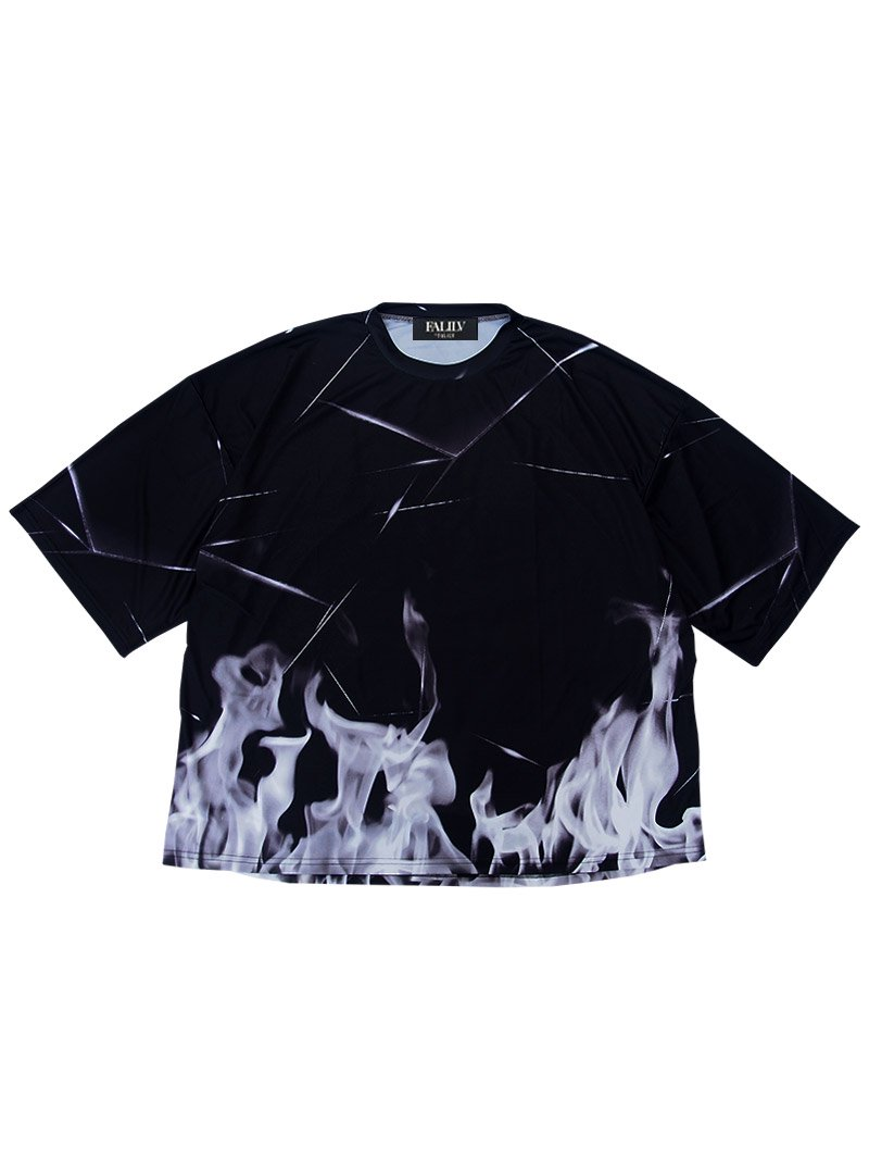 2020 SPRING GRAPHIC LOGO OVERSIZED TEE (FIRE)