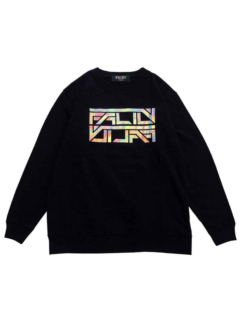 2020 SPRING HOLOGRAM LOGO OVERSIZED SWEAT (BLACK)