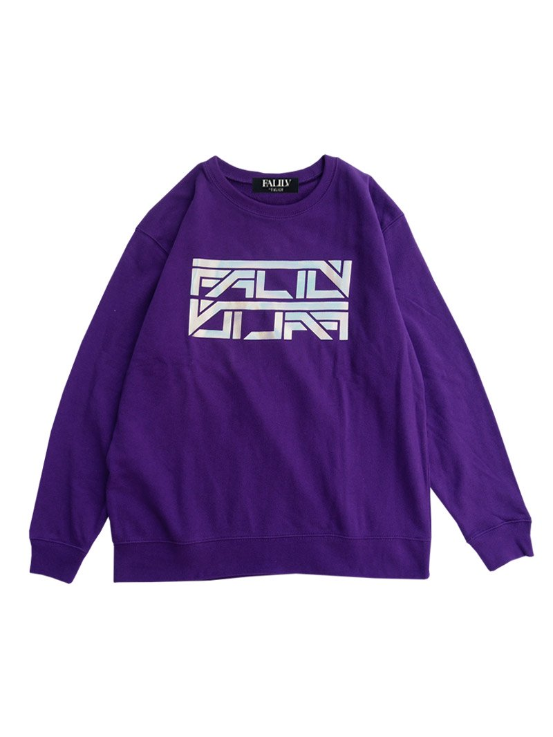 2020 SPRING HOLOGRAM LOGO OVERSIZED SWEAT (PURPLE)