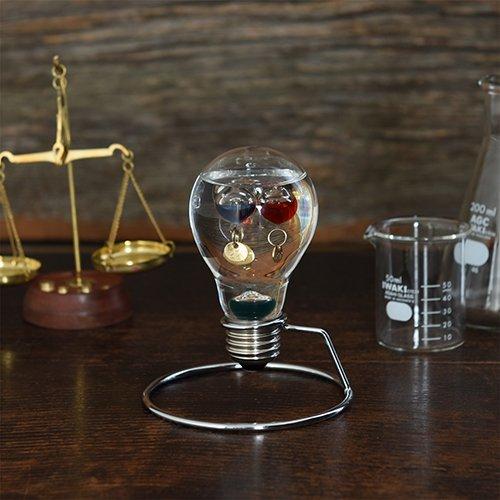 電球型 温度計 送料込み特価 18-26度までの計測となります。 インテリア温度計です!面白くおしゃれで涼し気なアイテムで…