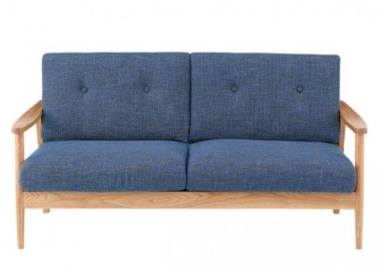 3人掛けソファ 淡い色合い ブルー ブラウン グリーン 横幅広めでゆったりと使える 3Pソファ 三人掛けソファー 木製フレーム リビング向き 北欧風 ナチュラルテイ…