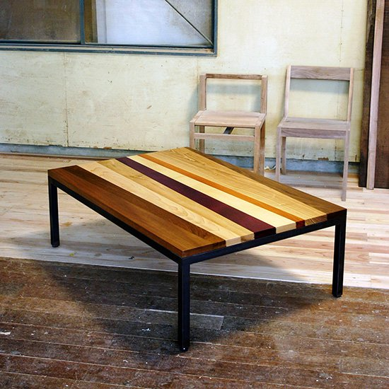NOVENTA ノベンタ ローテーブル 幅120cm×奥行80cm リビングテーブル 天然木 無垢材 スチール脚 国産 天然木デザインテー…