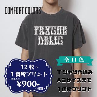 Comfort Colors 1717 ガーメントダイ Tシャツ 1箇所(1色)プリント