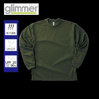 GlimmerドライロングスリーブTシャツ 3色3箇所プリント