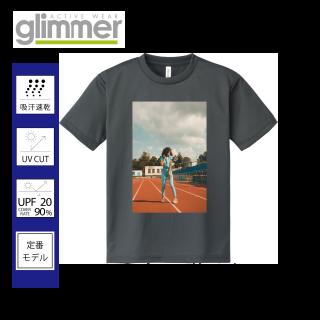 glimmer 00300-ACT 4.4オンス ドライ Tシャツ 箇所フルカラー転写プリント