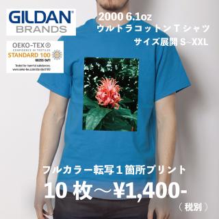 GILDAN 2000 6.0オンス ウルトラコットン Tシャツ フルカラー転写
