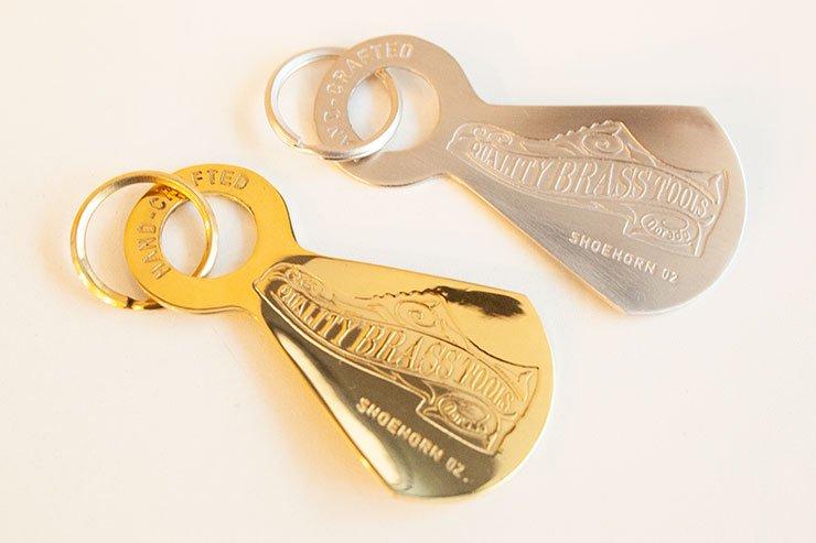 dorado brass keychain shoehorn 真鍮 キーホルダー 靴ベラ