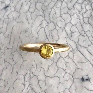 K18YG classy ring † Yellow sapphire