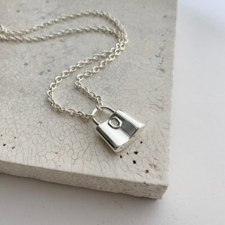 padlock necklace † silver