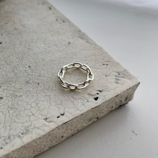 chain ring † silver
