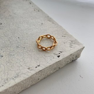 chain ring † gold