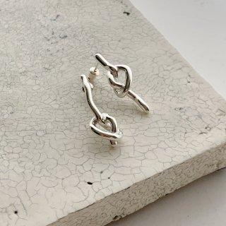 knot pierce/earring † silver