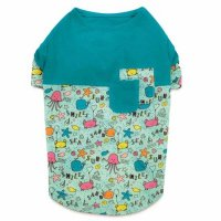Sun and Sea UPF 40 Patchwork Dog T-Shirt<img class='new_mark_img2' src='https://img.shop-pro.jp/img/new/icons20.gif' style='border:none;display:inline;margin:0px;padding:0px;width:auto;' />