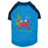 Under the Sea SPF40 Crab Dog T-Shirt<img class='new_mark_img2' src='https://img.shop-pro.jp/img/new/icons20.gif' style='border:none;display:inline;margin:0px;padding:0px;width:auto;' />