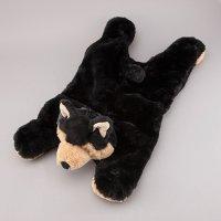 犬用おもちゃ ぬいぐるみ ブラック ウルフ NANDOG ナンドッグ 海外直輸入