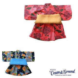 《OCEAN&GROUND/オーシャンアンドグラウンド》キッズ 浴衣ワンピース HIMAWARI&AJISAI
