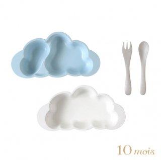 10mois(ディモワ) mamamanma(マママンマ) プレートセット ブルー