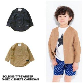 [30%OFF] 【2019SS SOLBOIS ソルボワ】タイプライター Vネックカーディガン  130-150